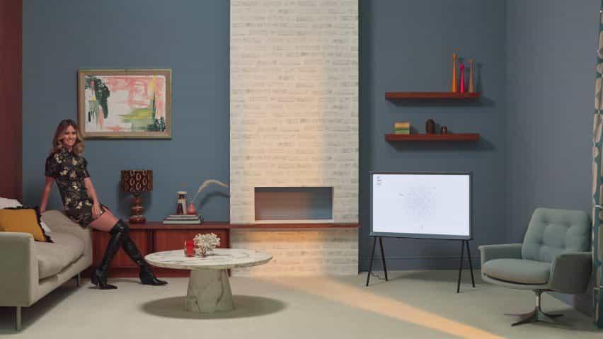Whinnie Williams sala de estilos utilizando pinturas Living Colour de Samsung