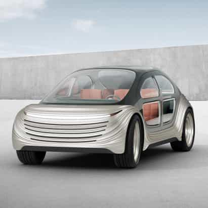 Heatherwick Studio revela un coche de Airo que limpiará la contaminación a medida que conduce