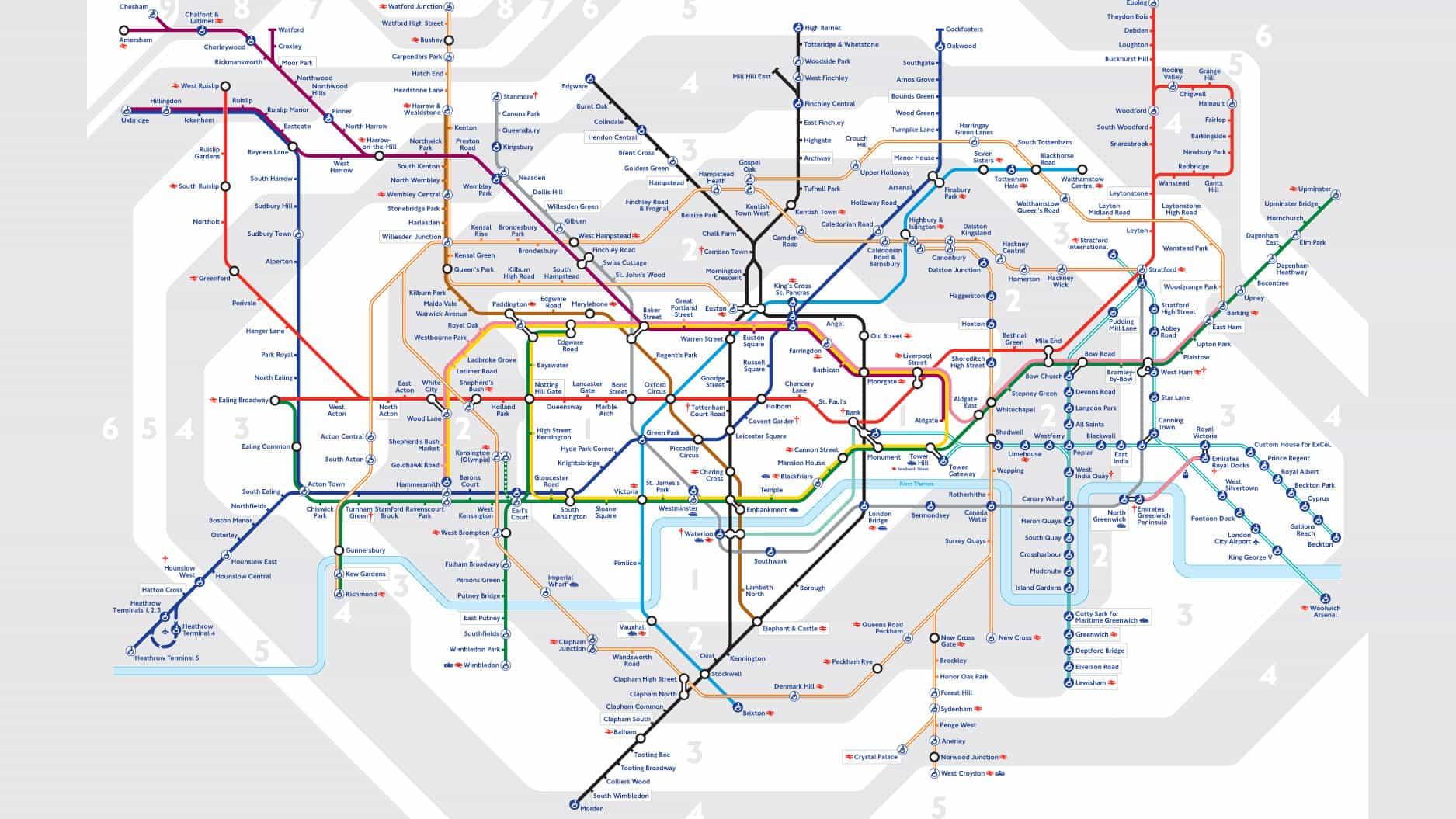 El icónico mapa del metro de Londres podría estar recibiendo un importante rediseño