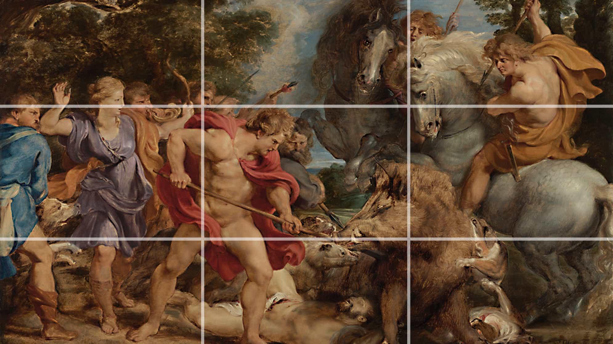 Cómo usar la regla de los tercios en el arte