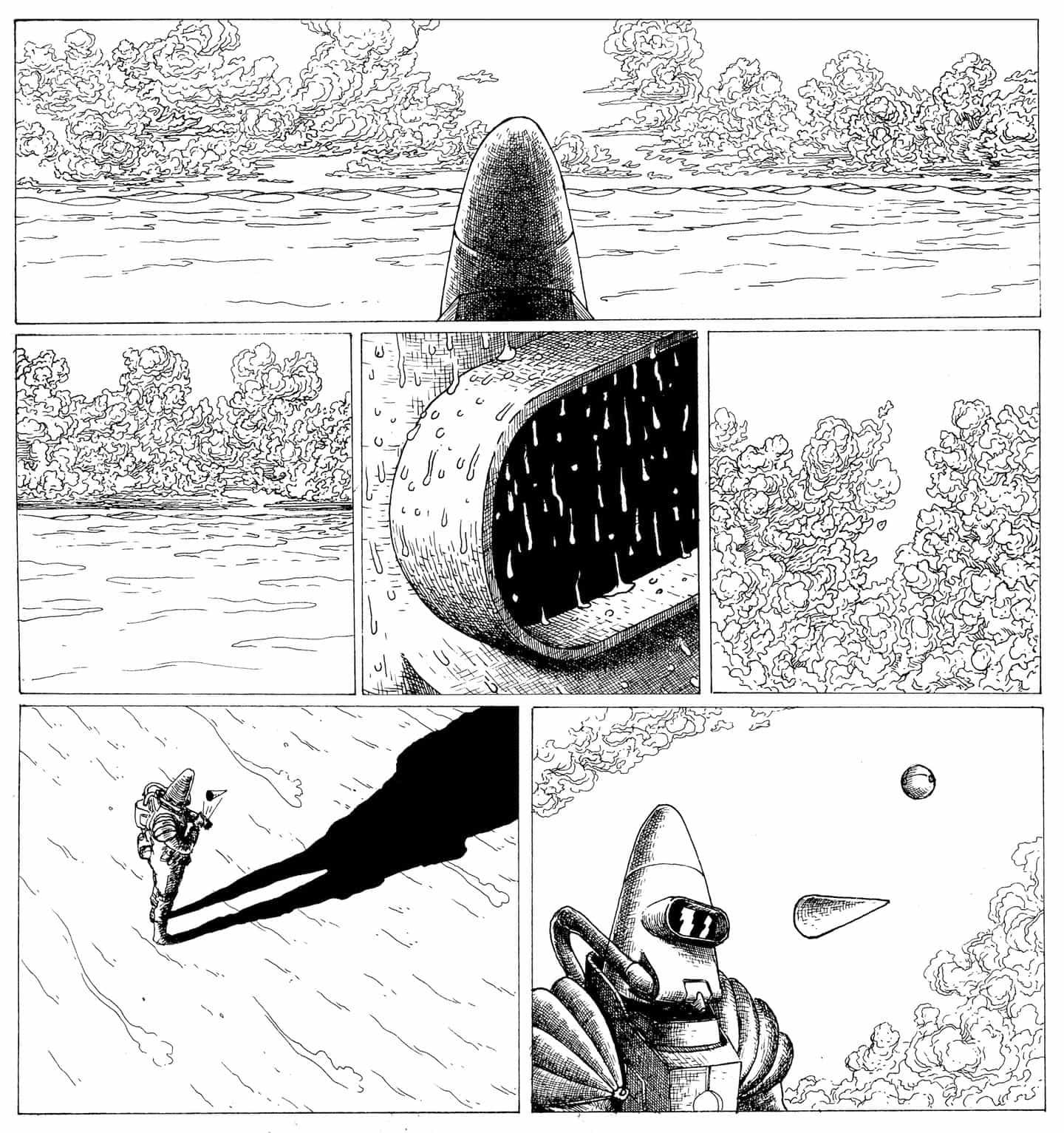 Contemplativo, de ritmo lento y confuso: un pico dentro de la cartera de ilustrador Elie Huault