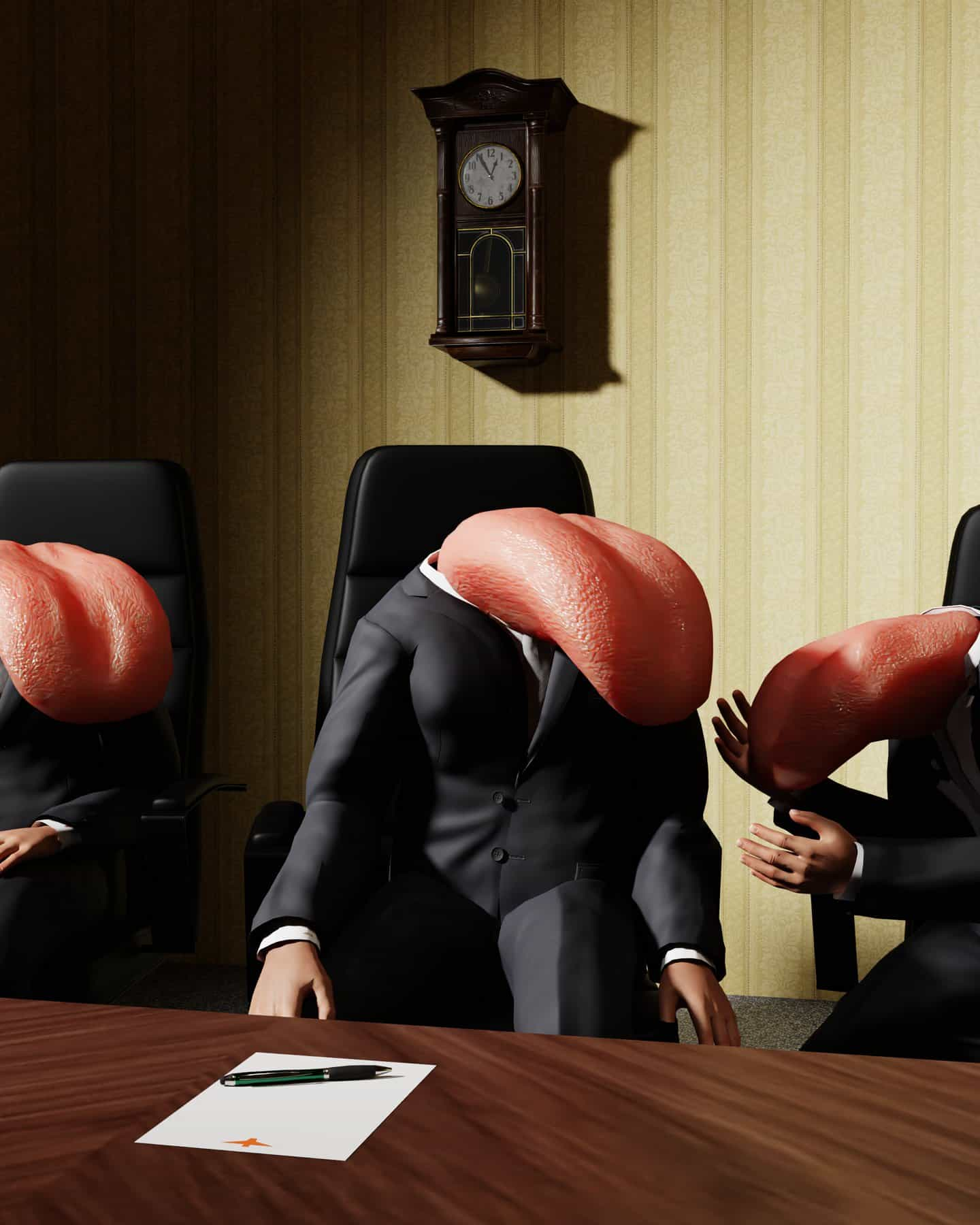Saratta Chuengsatiansup convierte titulares deprimentes en renders surrealistas