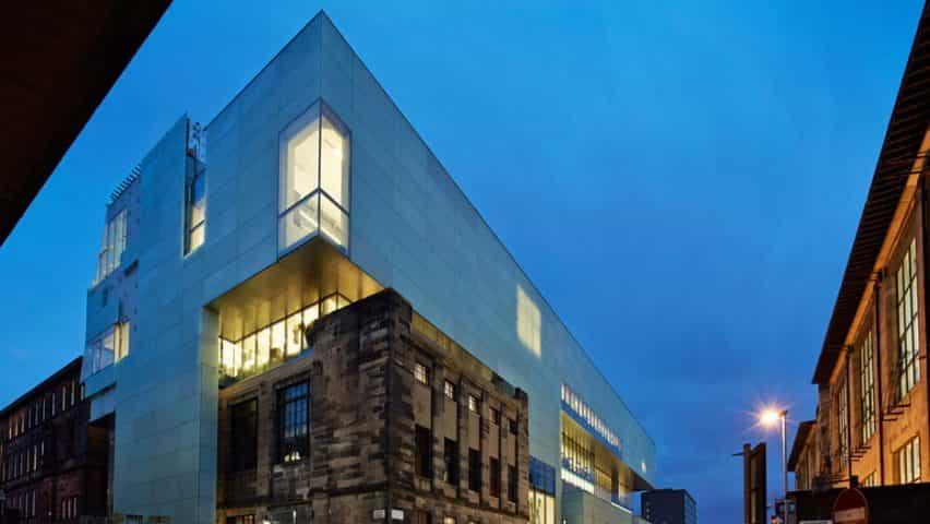 Edificio Reid de la Escuela de Arte de Glasgow por Steven Holl