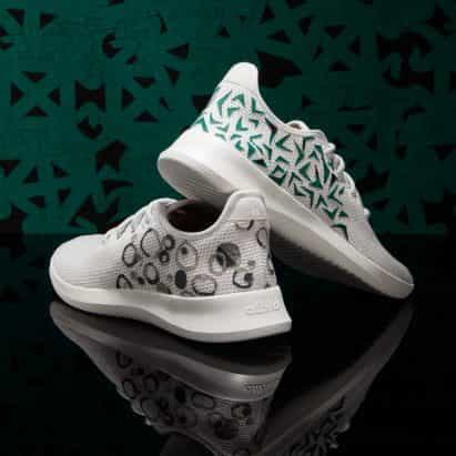 Chrissa Amuah anima zapatos Allbirds con símbolos de Adinkra de Ghana
