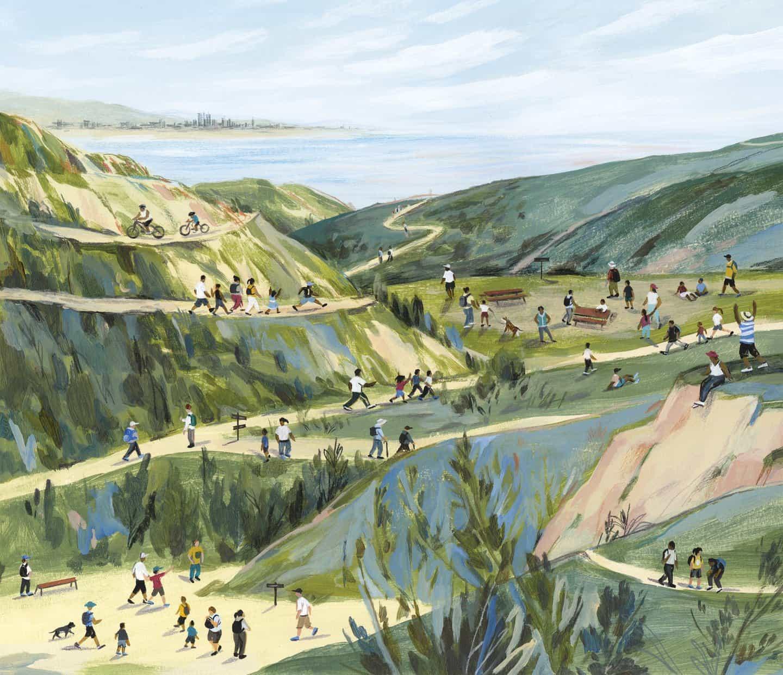 Encuentra trazos atrevidos y paisajes tranquilos en las ilustraciones de Sally Deng que buscan crear un tirón emocional