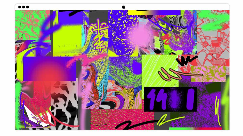 Kris luego compiló sus texturas, colores y pinceles favoritos en un tablero de expresión. Lo usará más adelante en el proceso para guiar la estética de su autorretrato.