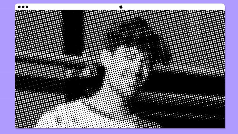 Halftone divide una imagen en puntos, un método que se utiliza a menudo en la impresión y que le da a una imagen una calidad gráfica.