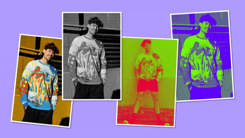 Kris experimentó con el uso de efectos de semitono sobre sus fotografías.