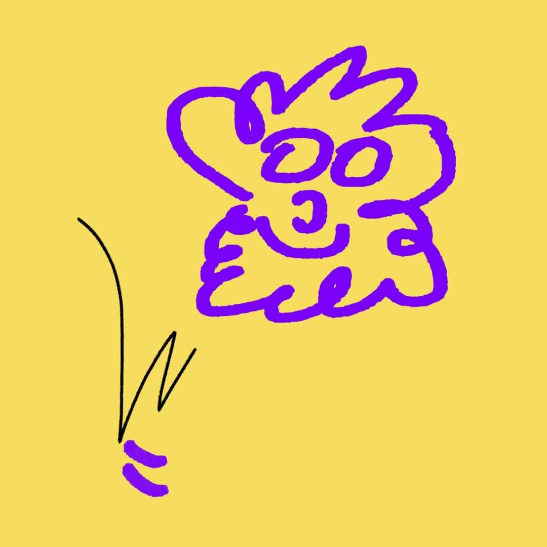Kris añadió motivos dibujados a mano a su patrón.