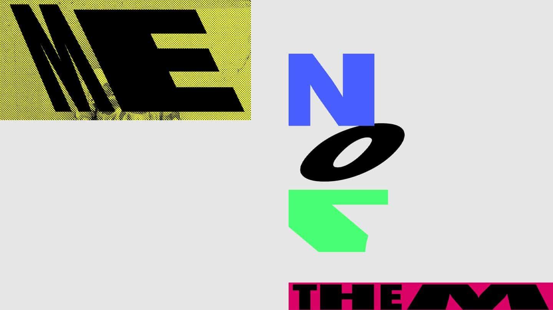Kris trabajó con una tipografía existente para su autorretrato, distorsionando las letras.