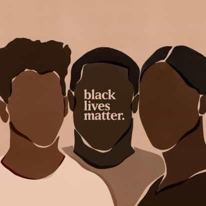 Diseñadores gráficos ilustraciones y compartir recursos en apoyo de la materia Negro Vidas