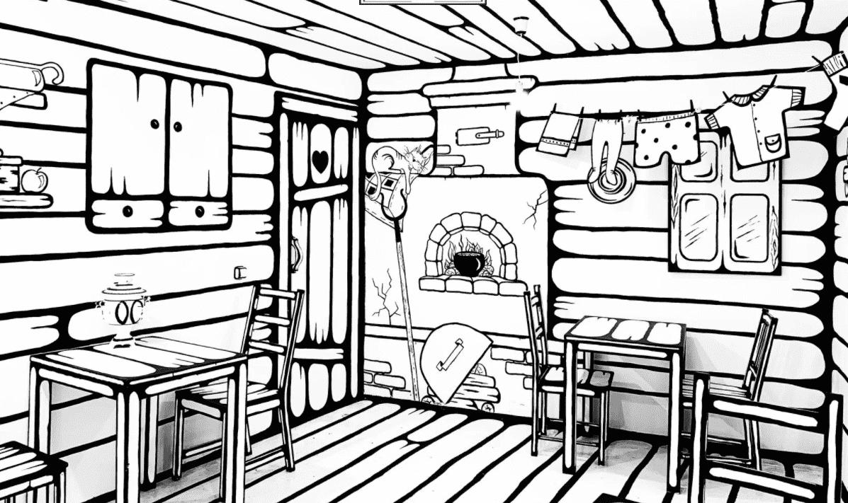 El diseño interior 2D de este café hay que verlo para creerlo