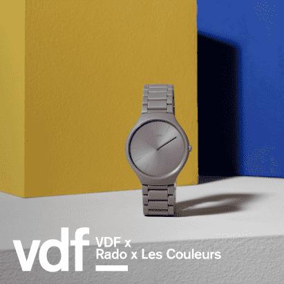 panel de discusión en vivo con Rado y Les Couleurs Suisse como parte del Festival de Diseño Virtual