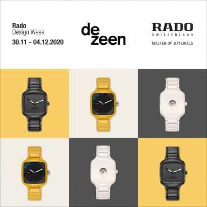 Rado para poner en marcha cuatro nuevos relojes de semana del diseño virtual en Dezeen