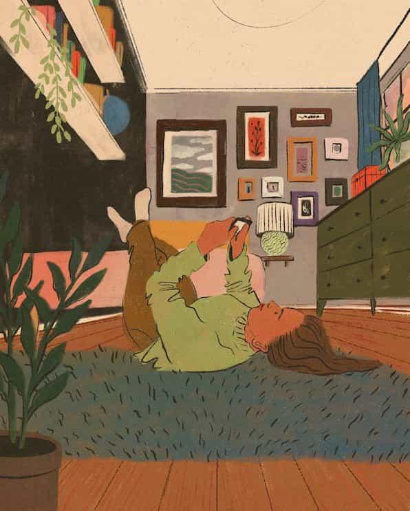 Las ilustraciones de Haley Tippmann crean un sentido de hogar en un mundo de encierros colectivos