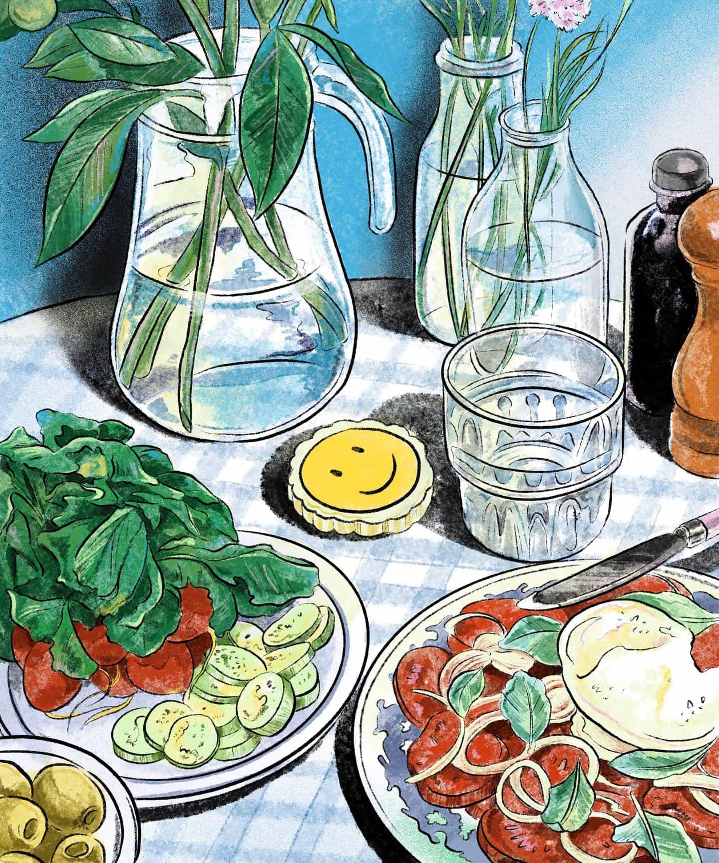 Vintage, texturas suaves colores a juego y trata comestibles: la obra de Bárbara flor es una fiesta para los ojos