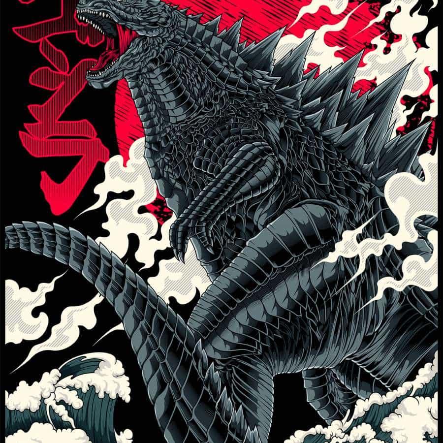 Godzilla King of Monsters Ilustración ardiente