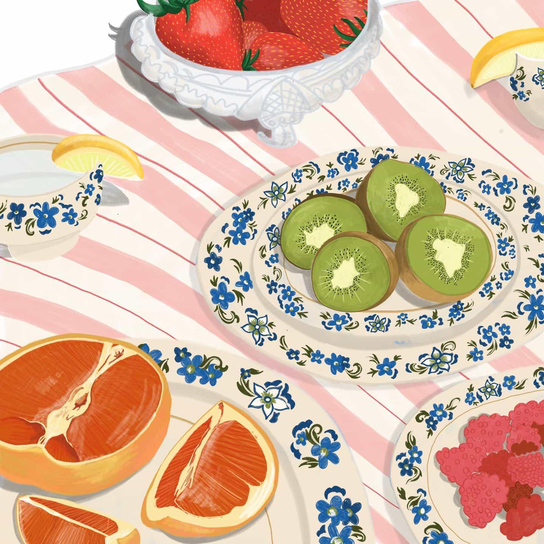 Añadir un poco de color a tu vida con ilustraciones apetitosas de Zena Kay