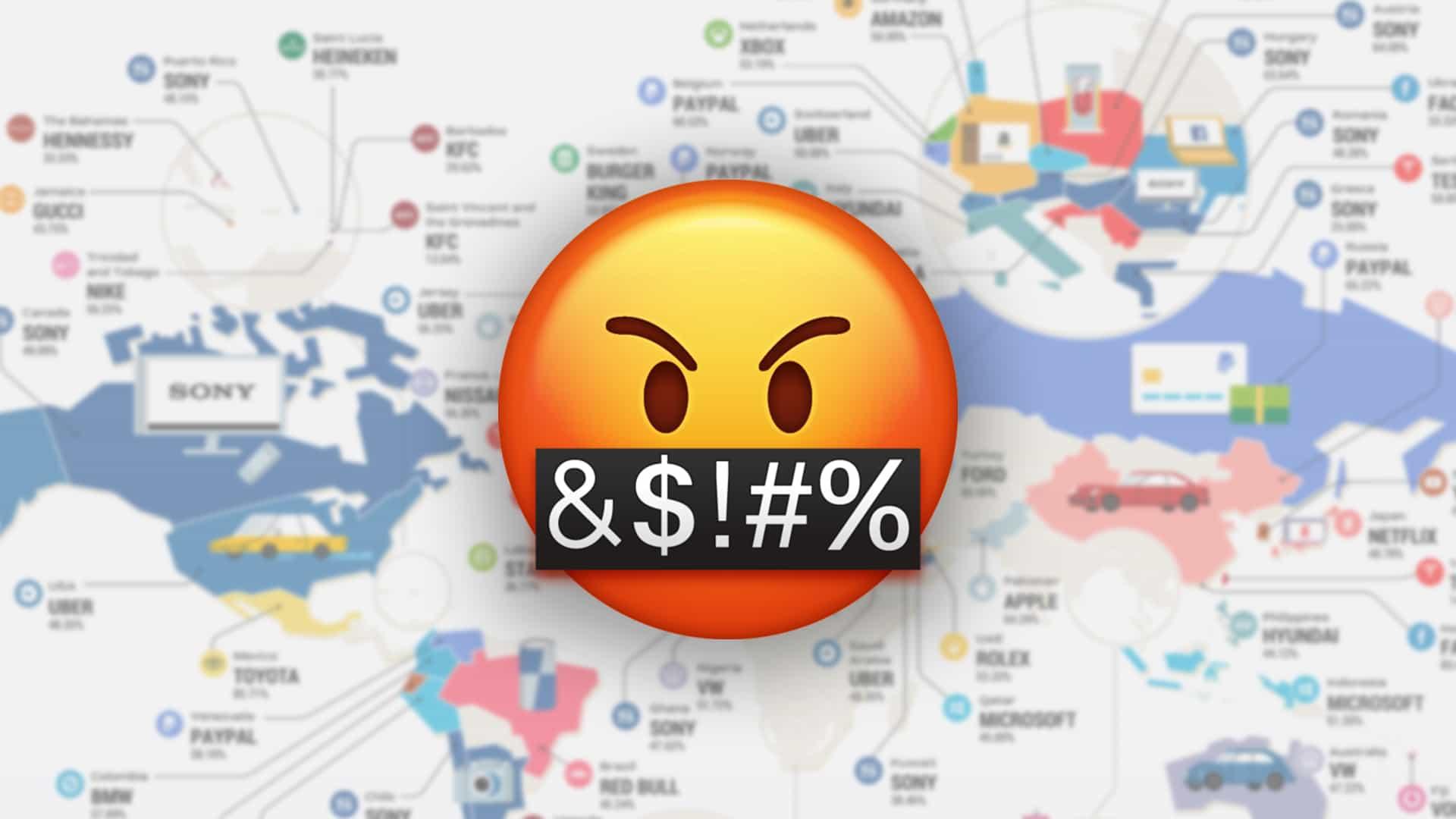 Infografía revela las marcas más odiadas del mundo