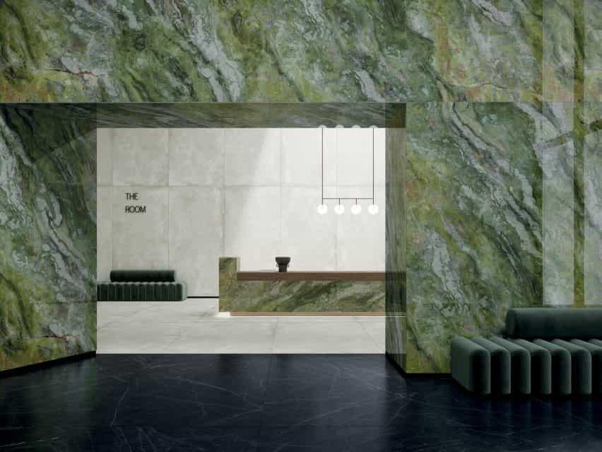 Verde brillante por Ariostea en la colección Ultra Marmi