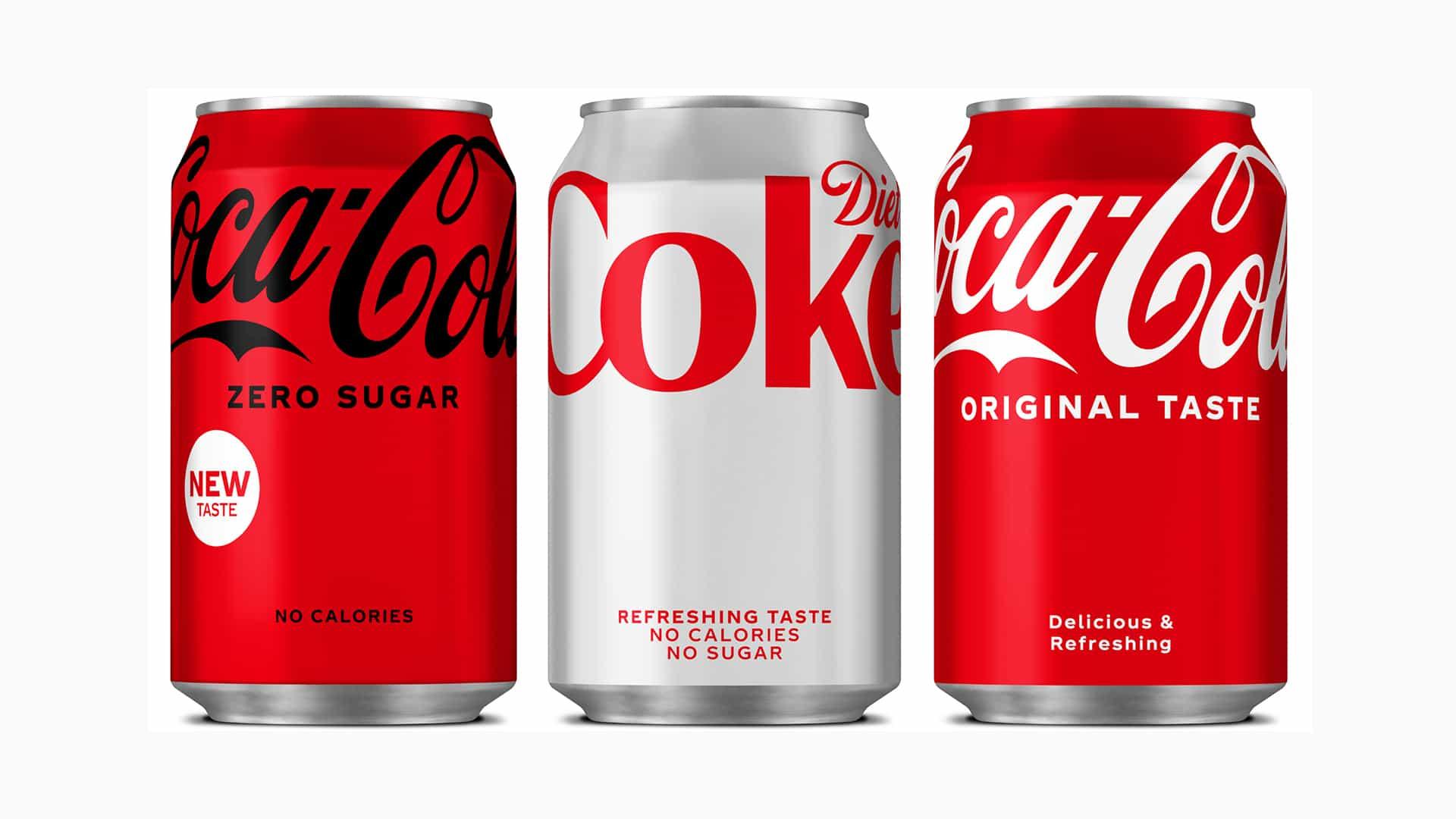 Coca-Cola presenta un nuevo rediseño audaz y mínimo