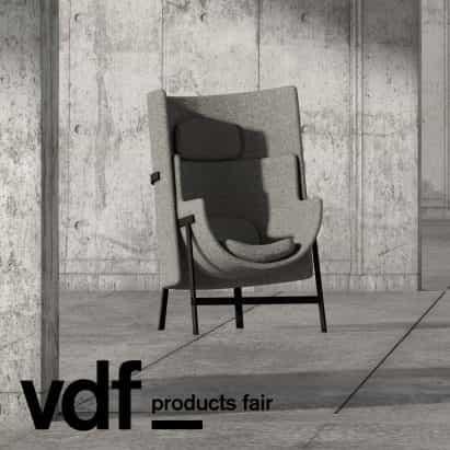 VDF escaparate de productos justo estelares Works cuenta con sillas de Nendo y Neri y Hu