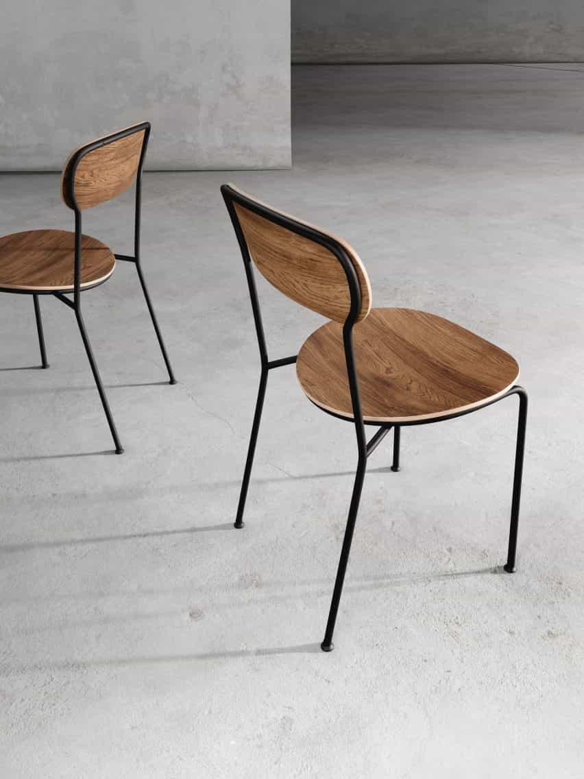 silla de pila por Neri y Hu para Stellar Works
