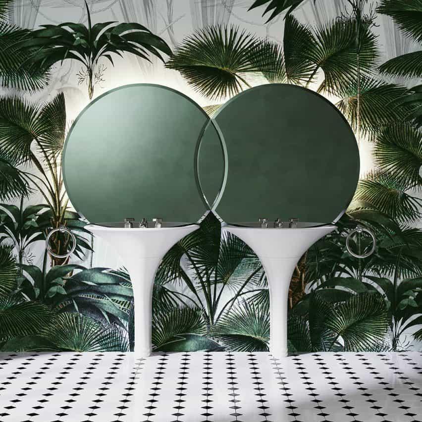 lavabo doble Kalos por Massimo Iosa Ghini para Devon & Devon