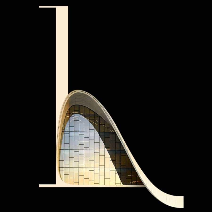 Johann Lucchini compartió un proyecto realmente impresionante que mezcla arquitectura, ilustración y tipografía. Titulado Architype Alphabet Poster, este proyecto explora un concepto simple, combina tipografía y arquitectura para crear una tipografía personalizada. Para cada letra del alfabeto, Johann se inspiró en un arquitecto famoso y en uno de sus edificios.