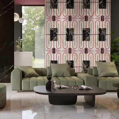azulejos superficiales Chimera por Elena Salmistraro para Florim