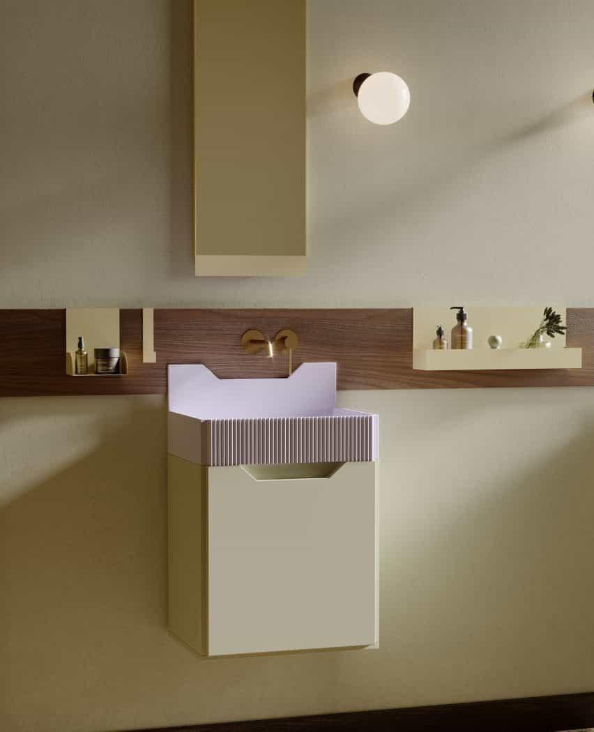 lavabos de baño friso por Marcante Testa para Ex.t