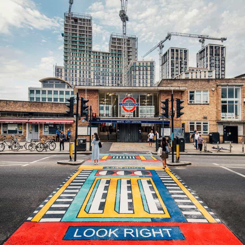 La obra de arte de Camille Walala rinde homenaje a la arquitectura del oeste de Londres