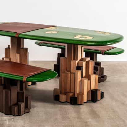 Ini Archibong diseña muebles como una roca con su propio sistema de drenaje