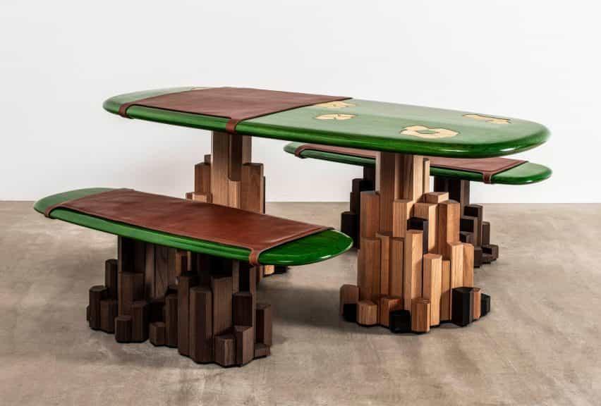 Ini Archibong diseña como una roca muebles Kadamba puerta con su propio sistema de drenaje