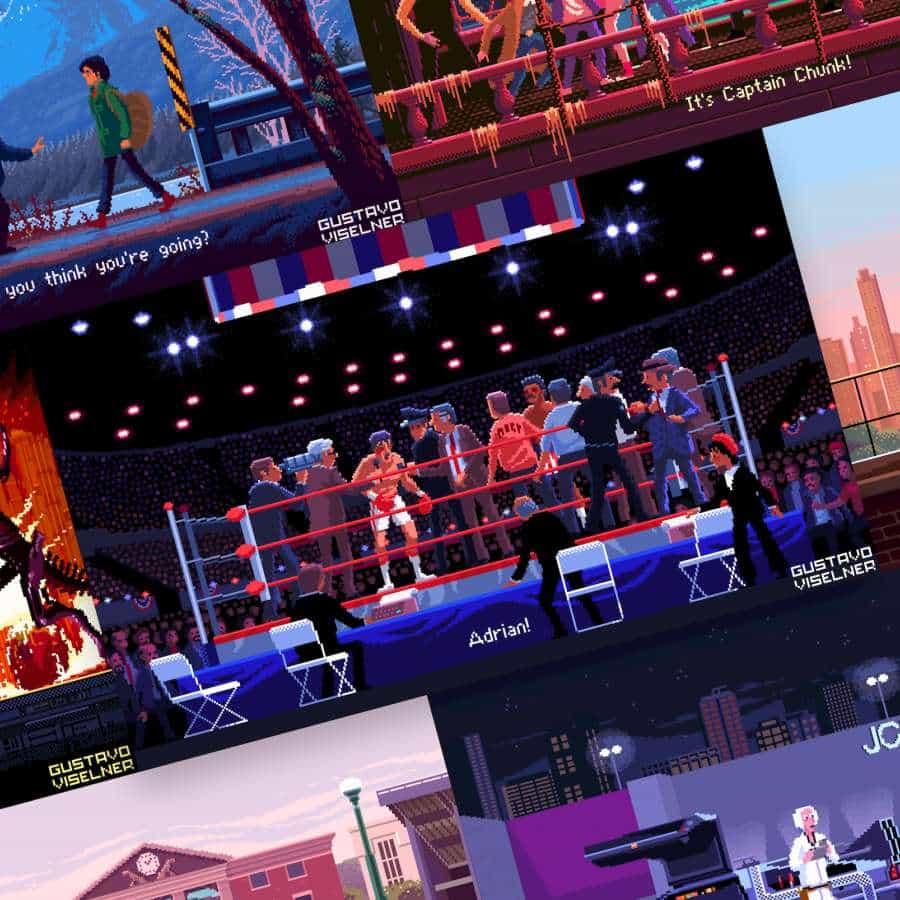 El artista del juego recrea escenas icónicas de la película a través de Pixel Art