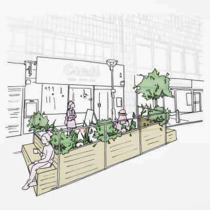 Arup diseña parklets para ayudar a los restaurantes de Liverpool vuelve a abrir durante las medidas de distanciamiento social