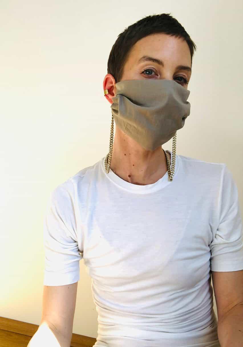 máscaras encadenados de German diseñador de joyas Saskia Diez