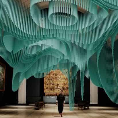 Sou Fujimoto crea una instalación virtual ondulante en Londres