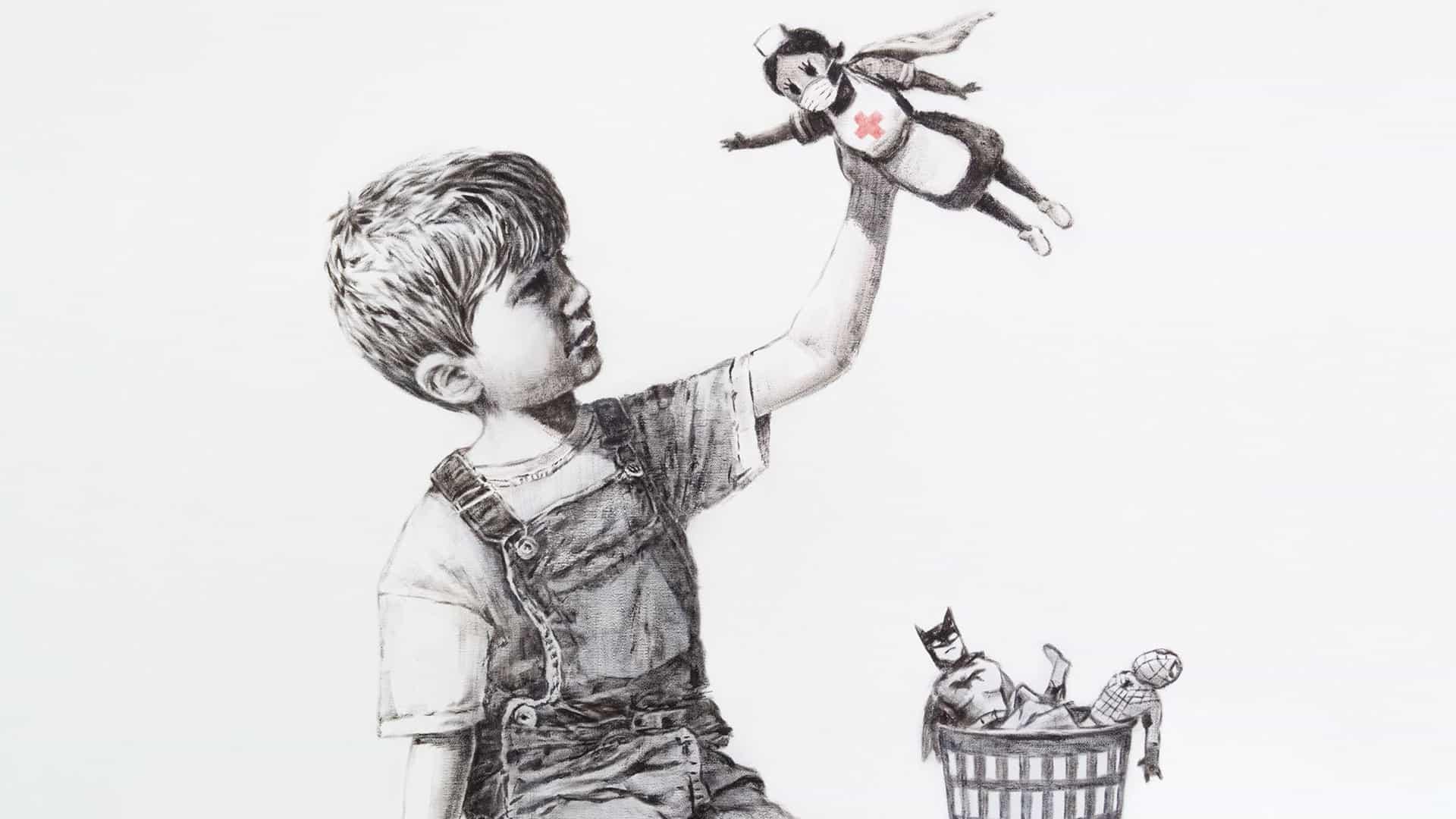 Banksy muestra su lado más suave con las nuevas ilustraciones del hospital