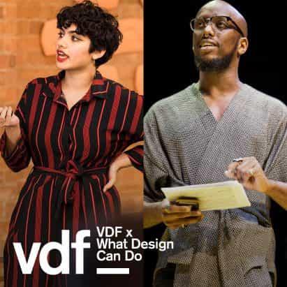 charla en vivo por descolonizar el diseño como parte de la colaboración de VDF con lo que el diseño Can Do