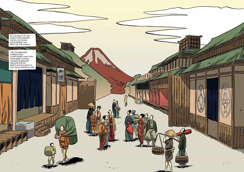 Hokusai: Una biografía gráfica cuenta la historia de vida del icónico artista japonés a través de la ilustración