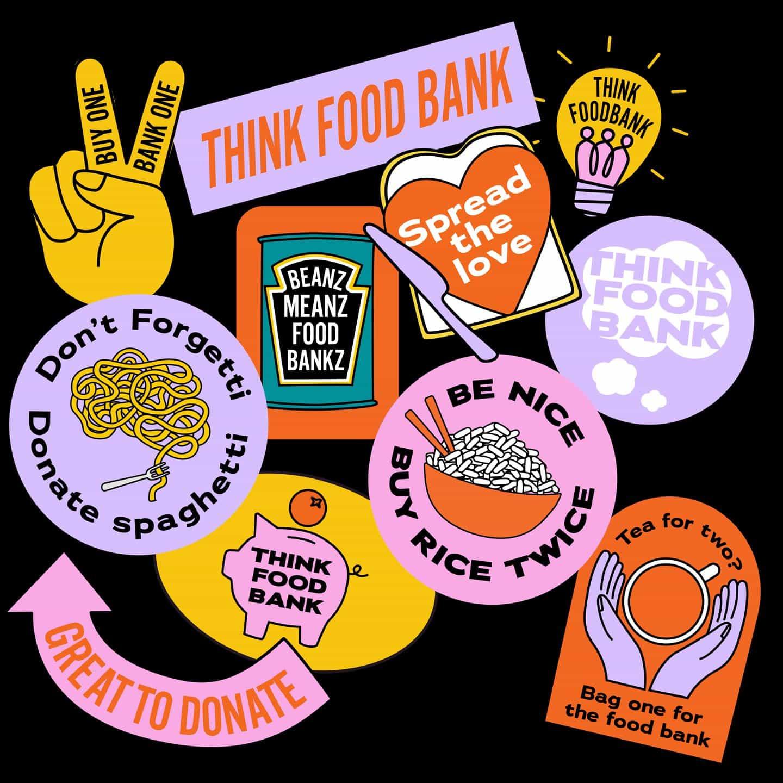 Piense campaña del Banco de Alimentos lleva en pobreza alimentaria con pegatinas guerrilleros
