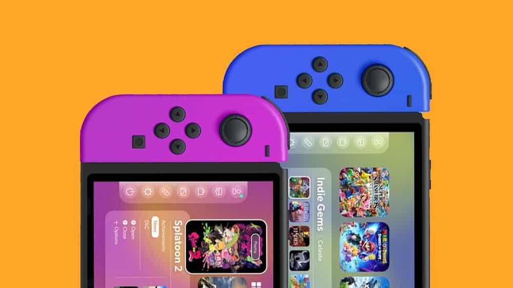 ¿Y si Apple diseñó la interfaz de usuario de Nintendo Switch?