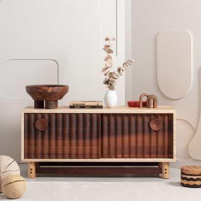 Ene Hendzel explora el potencial de la madera dura británica en colección de muebles Bowater