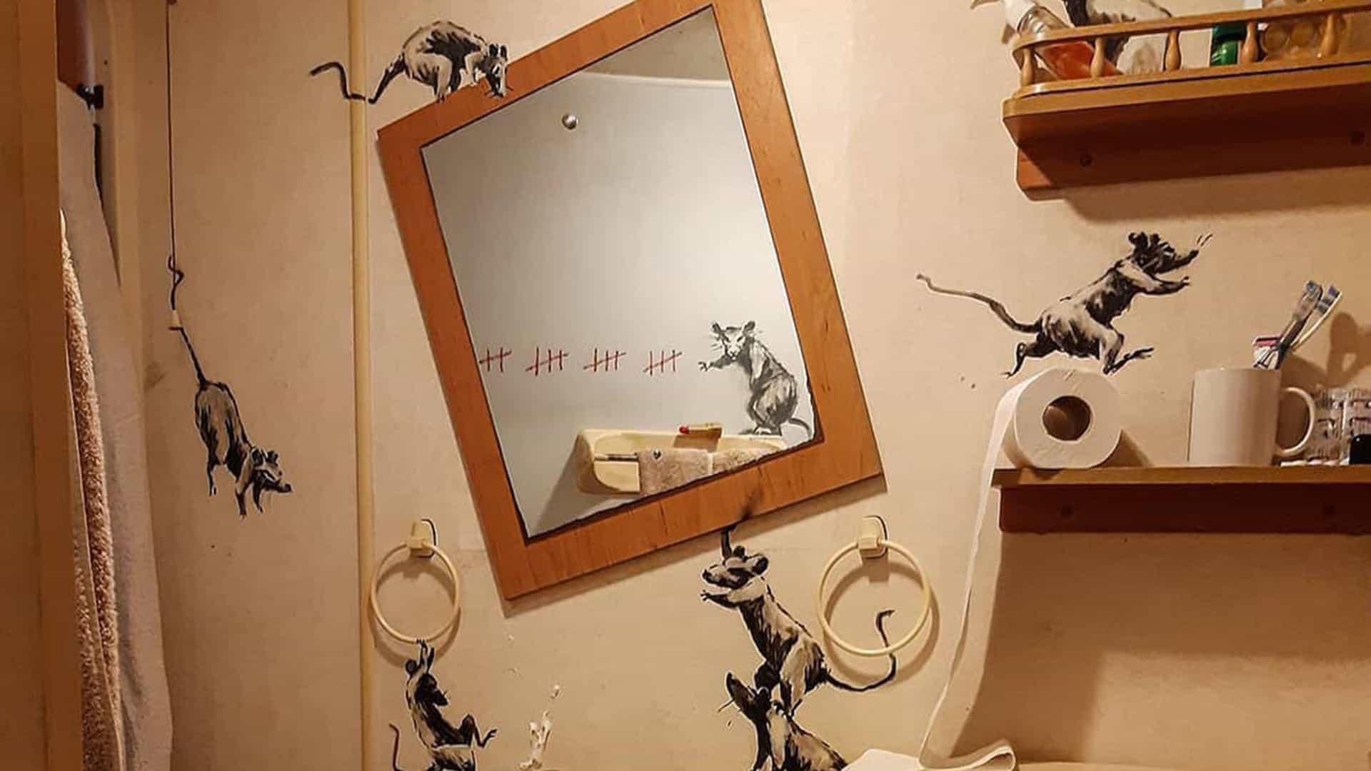 Esto es lo que Banksy trabajar desde el hogar como miradas