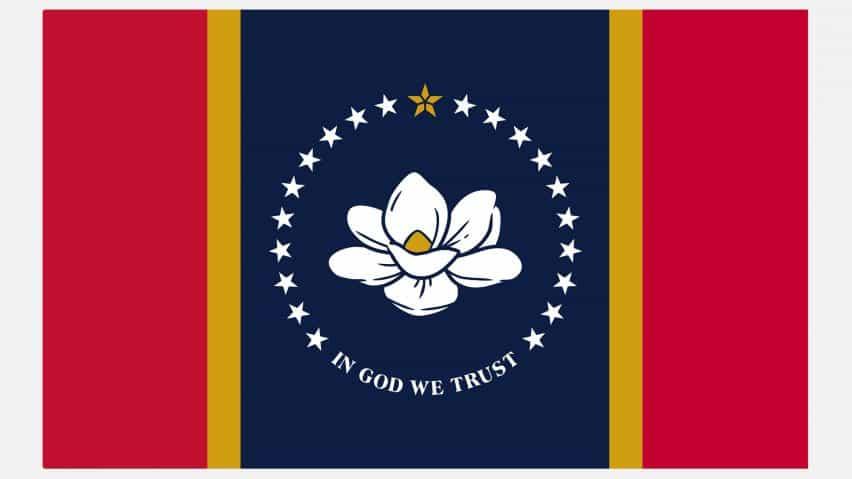 En Dios confiamos en la bandera de Mississippi.