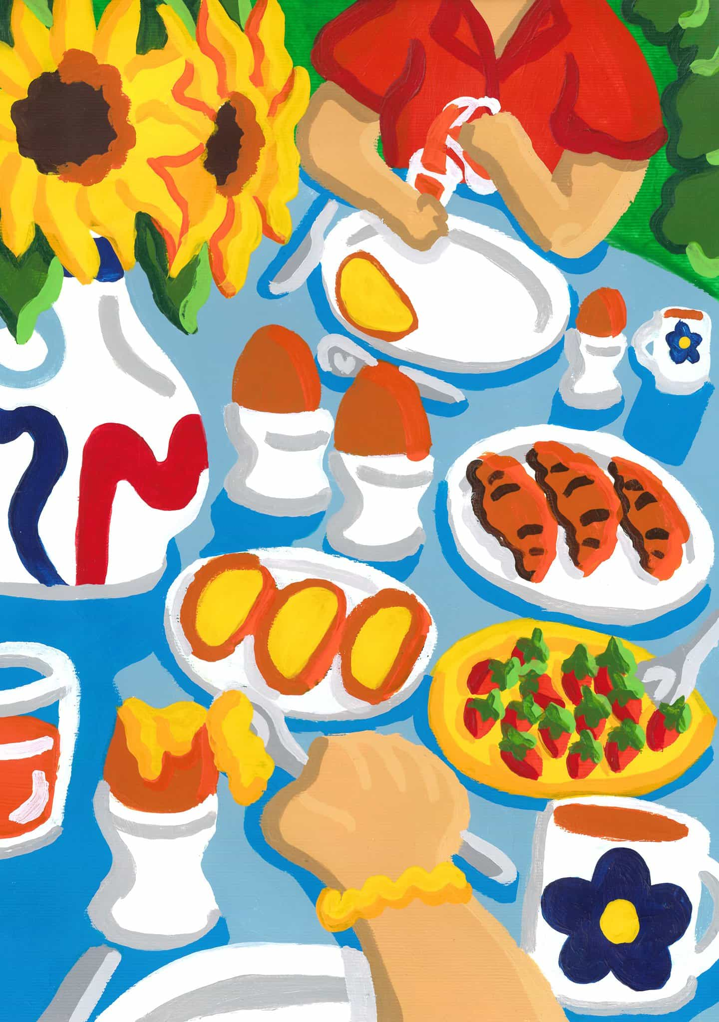 Rosie mayo: Los chicos en el desayuno (Copyright © Rosie de mayo de 2020)