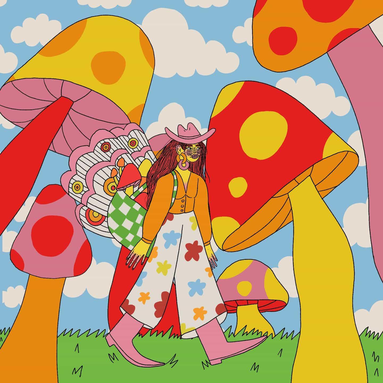 Doolittle Illustrations (Eliza Williams): Collecting Mushrooms (Serie de hadas de hongos) (Copyright © Doolittle Illustrations, mayo de 2021)