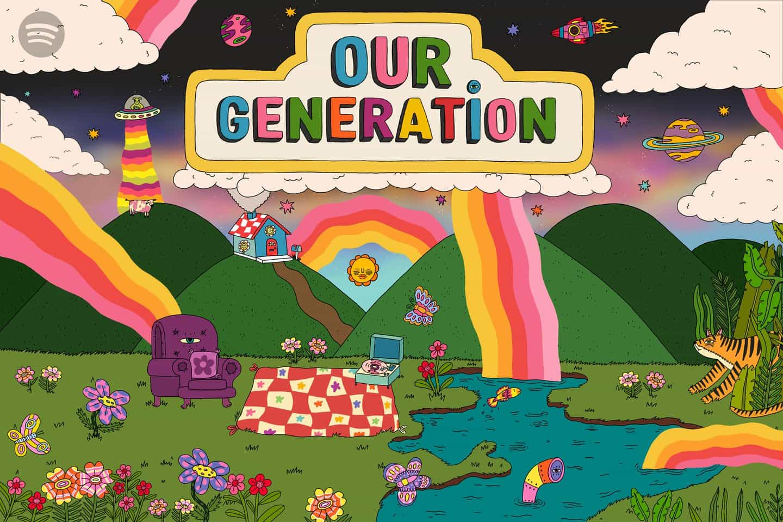 Doolittle Illustrations (Eliza Williams): Our Generation main world (Copyright © Spotify, noviembre de 2020)
