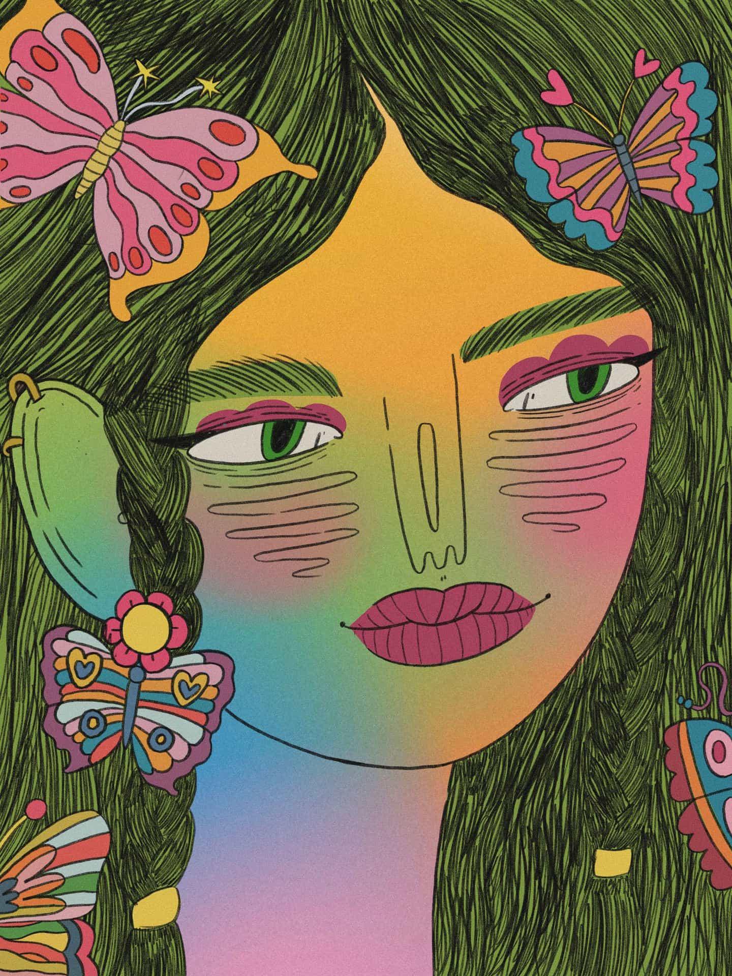 Ilustraciones de Doolittle (Eliza Williams): Butterfly Nymph (Copyright © Doolittle Illustrations, diciembre de 2020)